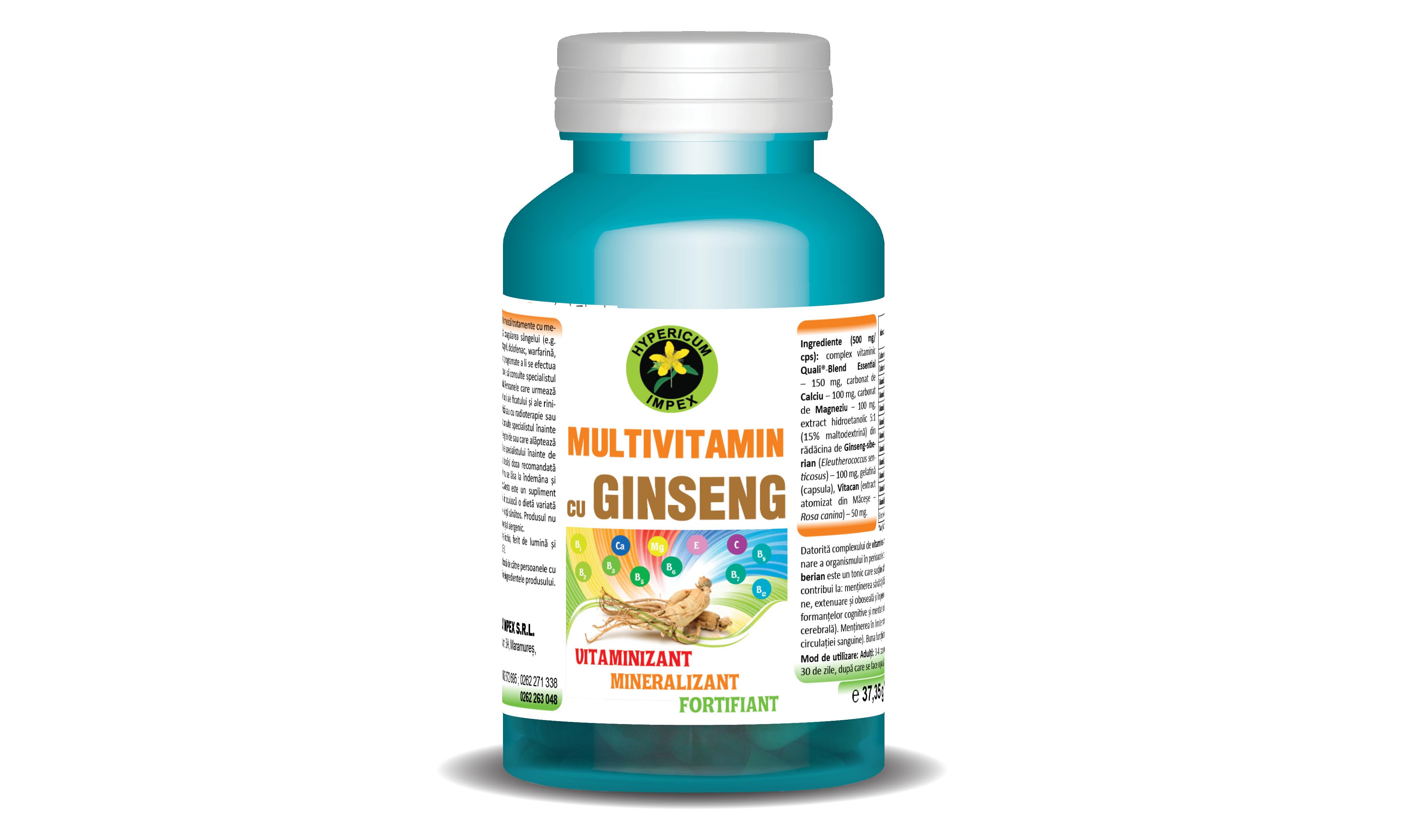 Multivitamin cu Ginseng