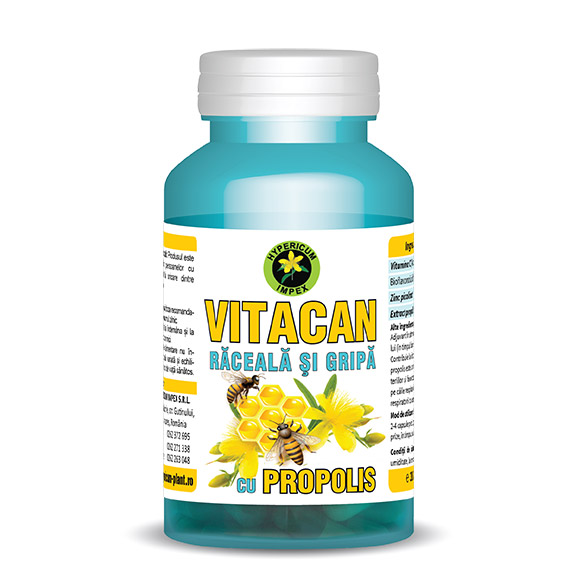 Capsule Vitacan raceala si gripa - vitamine si suplimente produs Hypericum Impex