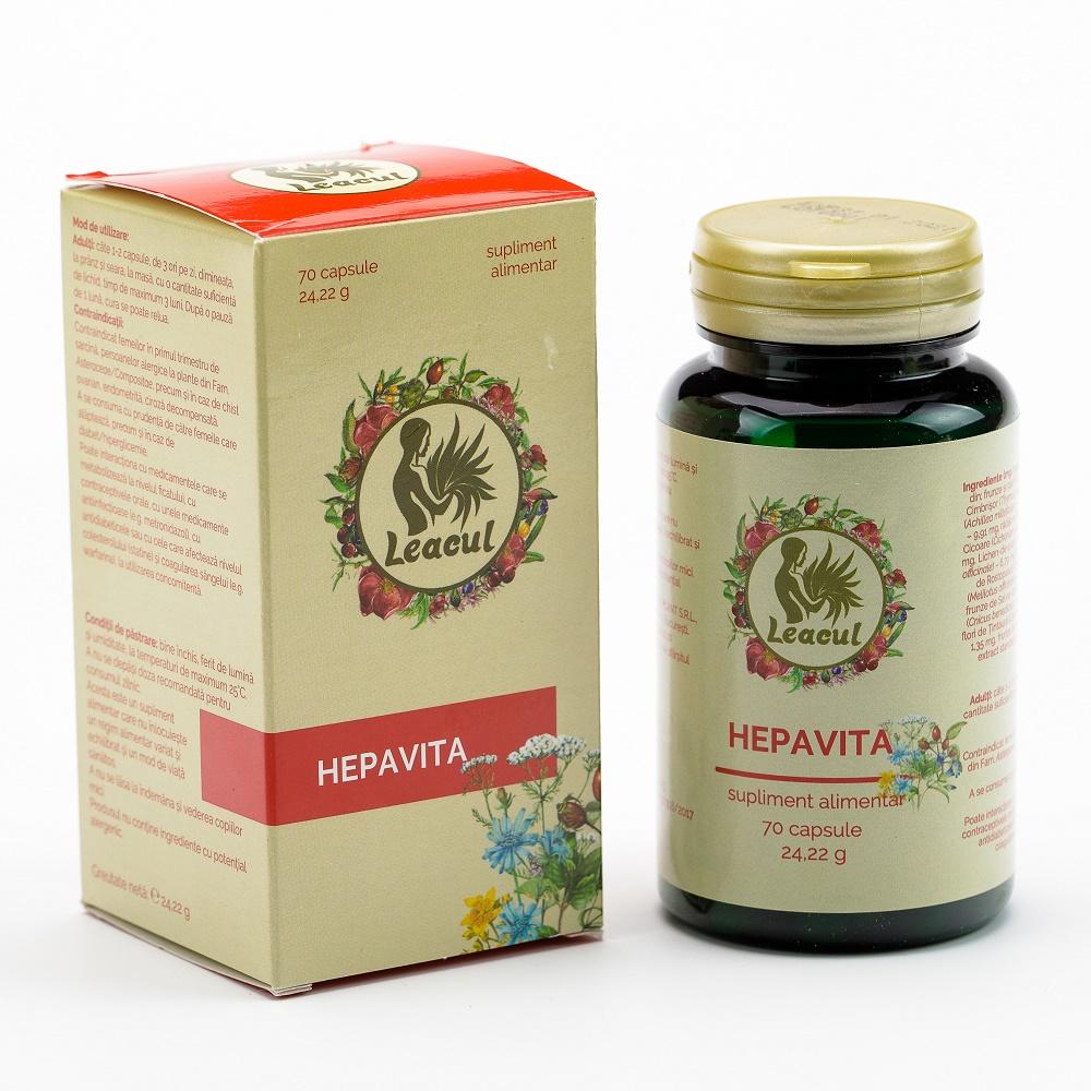 Hepavita Leacul, 70 capsule