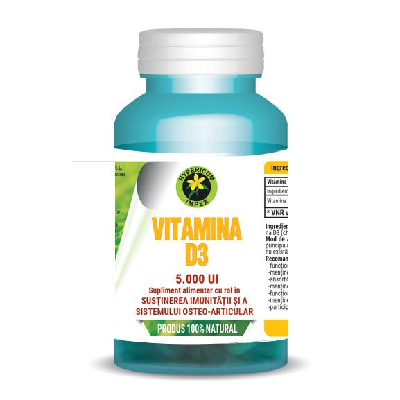 Capsule Vitamina D3 5000 UI